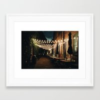 cafe Framed Art Prints featuring Cafe by Jacbo