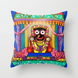 Lord Jagannatha Throw Pillow