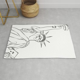 America Statue of Liberty USA ,Country Lady Liberty Freedom ,United States of America Rug
