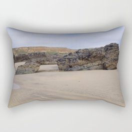 Godrecy Beach Cornwall Engand Rectangular Pillow
