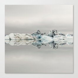 Jokulsarlon Iceland - Minimalist Landscape Photography Canvas Print