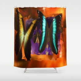 Butterfly Light and Shadow Shower Curtain