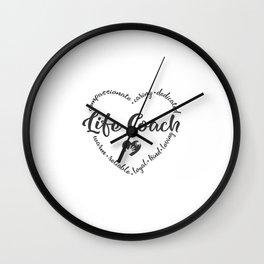 Life coach, lc, appreciation, Boss Life Wall Clock