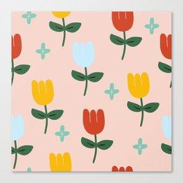 Colorful tulip Canvas Print