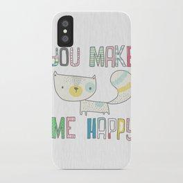 make me happy iPhone Case