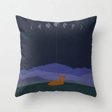 Lunatic Deer Throw Pillow
