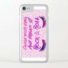 Close Your Eyes And Dream Of Rock And Roll Clear iPhone Case