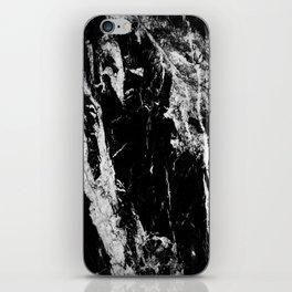 Dark marble black white stone1 iPhone Skin