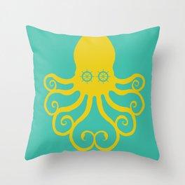 The Kraken Encounter Throw Pillow