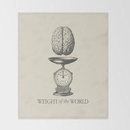 Weight of the World Throw Blanket