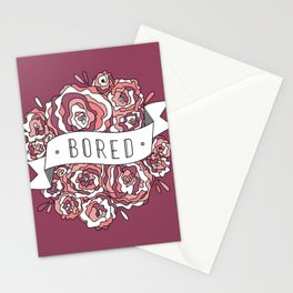 bored II Stationery Cards