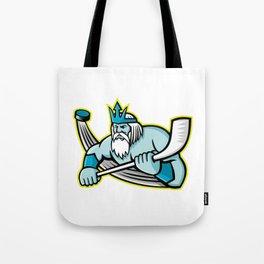 Poseidon Ice Hockey Sports Mascot Tote Bag