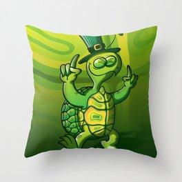 Saint Patrick's Day Green Turtle Throw Pillow