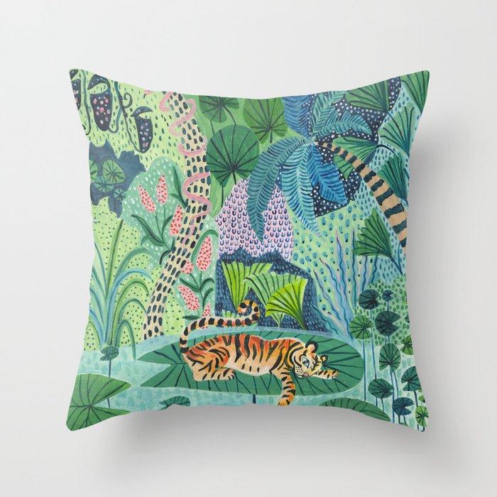 Jungle Tiger Throw Pillow