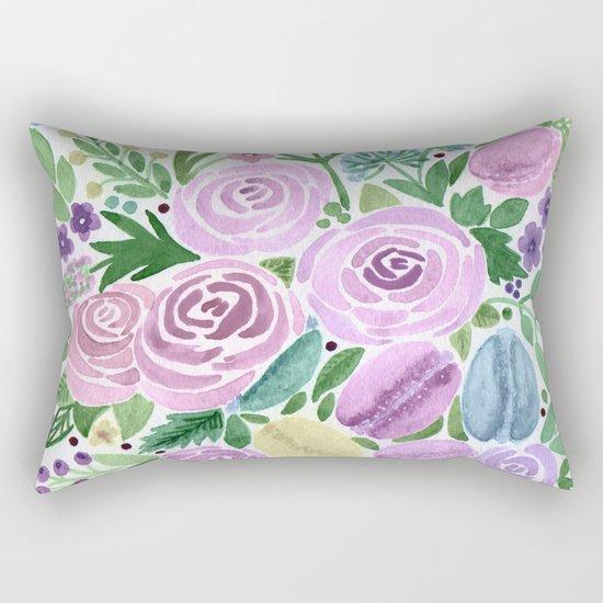 Watercolor . Macaroons in the colors . Rectangular Pillow