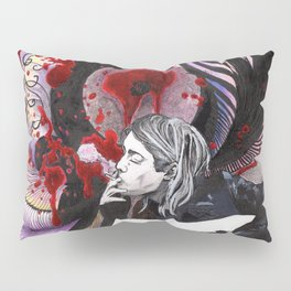 Cobain Kurt Plays guitar Pillow Sham