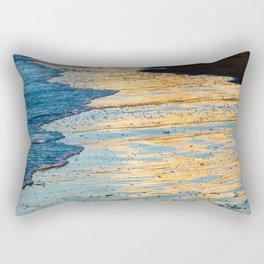 Golden Morning Reflection Rectangular Pillow
