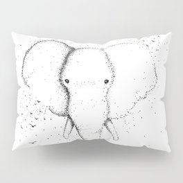Elephant Ink Drawing Design Pillow Sham