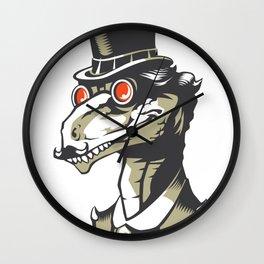 Dromeosaurs Industrial vector Wall Clock