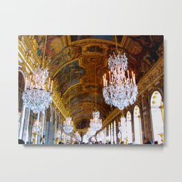 Versailles - Hall of Mirrors Metal Print