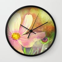 cosmos Wall Clocks featuring Cosmos by V. Sanderson / Chickens in the Trees