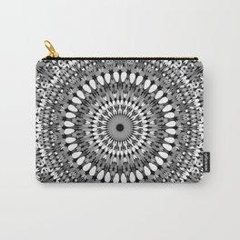 Grey Ornate Gravel Mandala Carry-All Pouch