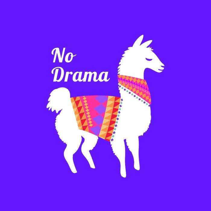 No Drama Llama Duvet Cover