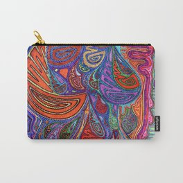 Dripping in Colors on Blues Carry-All Pouch