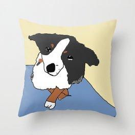 nice pup Throw Pillow