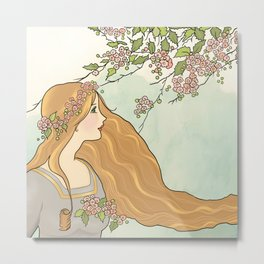 Guinevere Had Golden Hair Metal Print