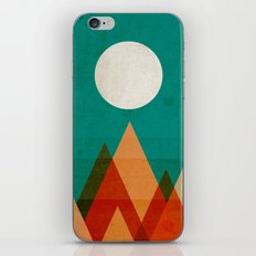 Full moon over Sahara desert iPhone Skin