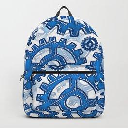 Blue gear wheels Backpack