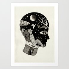 Distorted Recollection of a Dream About Death Art Print