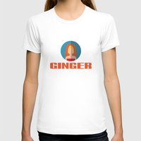 spice girls T-shirts featuring GINGER SPICE by Chilli Cactus