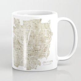 Jackson Mississippi watercolor city map Coffee Mug