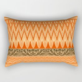 crochet mixed with lace in warm mood Rectangular Pillow