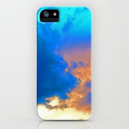 """""""Sunset #60"""" with poem: Field Of Life iPhone Case"""
