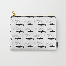 B/W Shark Carry-All Pouch
