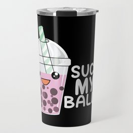 Boba Tea Suck My Balls Bubble-Tea T-Shirt & Gift Travel Mug