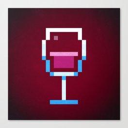 Pixel Wine Canvas Print