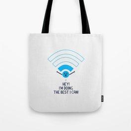 Angry Wifi Tote Bag