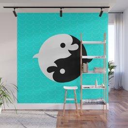Yin Yang Dolphins Wall Mural