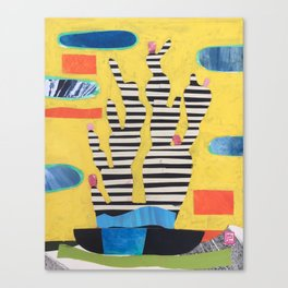 Striped Cactus Canvas Print