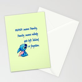 Lilo & Stitch - Ohana Quote Stationery Cards
