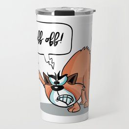 Fluff Off! - Angry Cat Travel Mug