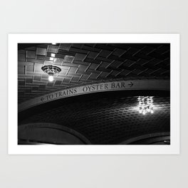 Grand Central Station Decisions Art Print