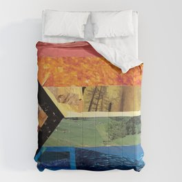 Progress Pride Flag Collage Comforters