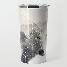 bad white wolf Travel Mug
