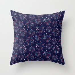 Star Spangled Night Throw Pillow