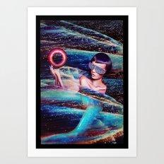 SPACE MERMAID Art Print